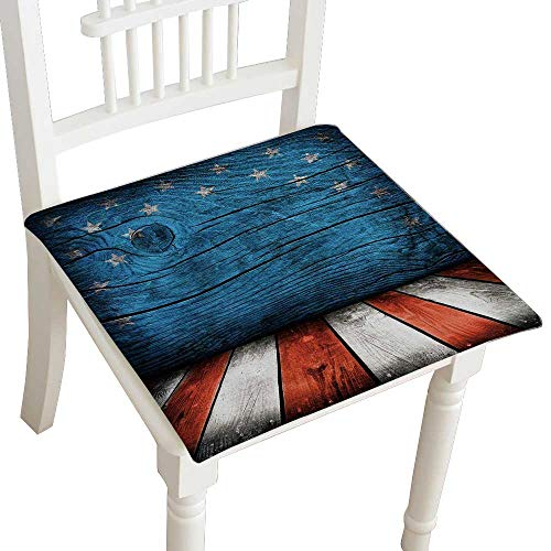Cover Montage Futon - HuaWuhome Chair Pads Classic Design Empty Interior with American Flag Colors Ready for Product Montage Cotton Canvas Futon 32