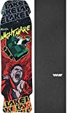 Lake Skateboards Nightmare Black/Red Skateboard Deck - 8.75'' x 32.5'' with Jessup WS Die-Cut Griptape - Bundle of 2 items