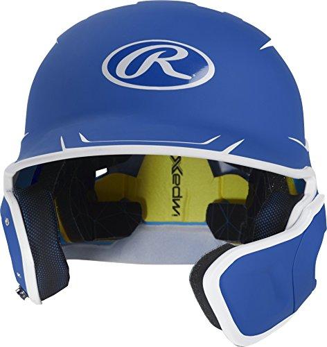 (Rawlings MACHEXTR-R7/W7-SR 2019 Mach Baseball Batting Helmet, Royal/White)