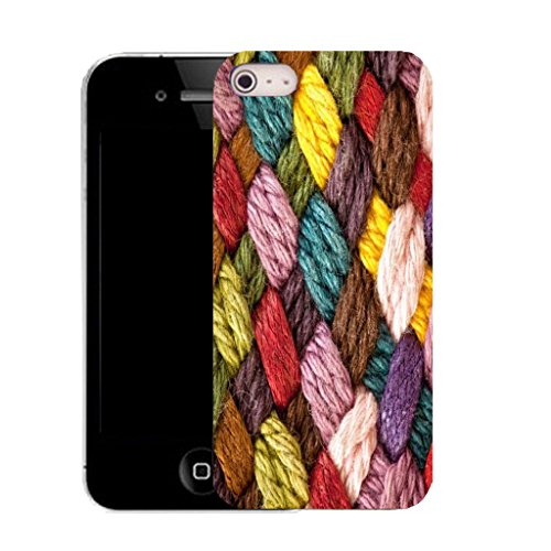 Mobile Case Mate IPhone 5S clip on Silicone Coque couverture case cover Pare-chocs + STYLET - knitted pattern (SILICON)