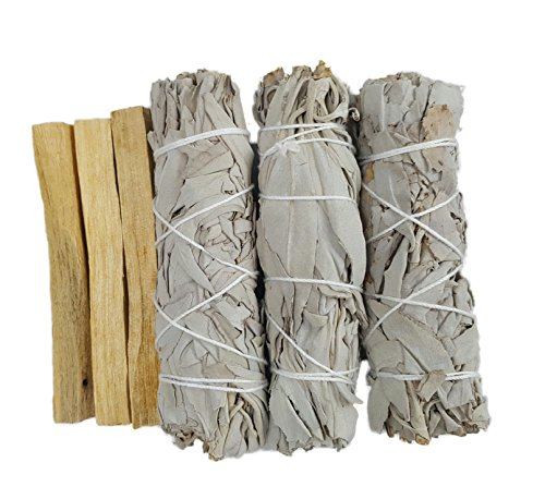 Oxley Health Sage and Palo Santo Variety Pack, California White Sage Smudge Sticks and Palo Santo Sticks (Refresh) by Oxley Health