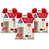 Atkins Gluten Free Meal Size Protein-Rich Shake, Vanilla Cream, 16.9 oz., 4 Count (Pack of 3)