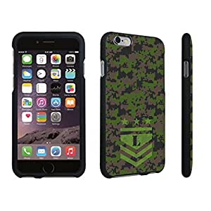 DuroCase ? Apple iPhone 6 Plus - 5.5 inch Hard Case Black - (Army Camo Monogram L)