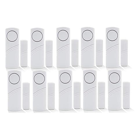 Inalámbrico de alarma de seguridad para el hogar DIY Kit - antirrobo de alarma magnético Sensor - ventana cristal vibración alarma antirrobo Seguridad ...