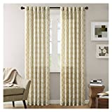 Ink+Ivy Yellow Curtains For Living room, Modern Contemporary Window Curtains For Bedroom, Nakita Print Fabric Linen Window Curtains, 50X84″, 1-Panel Pack