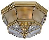 Quoizel NY1794B  Newbury 3-Light Outdoor Lantern, Polished Brass