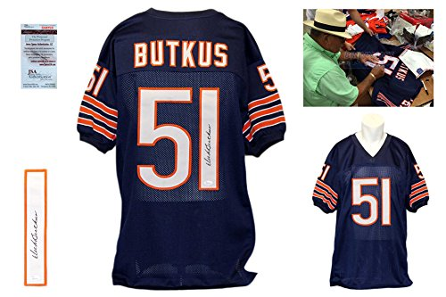 Dick Butkus Signed Jersey - JSA Witness - Chicago Bears Autographed