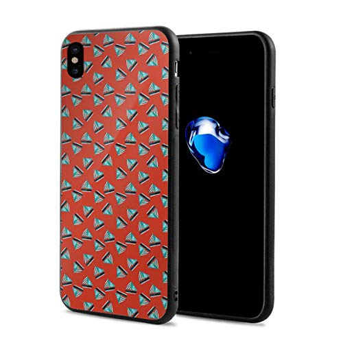 Phone Case Cover for iPhone X XS,Cutter with Anchor Pattern and Nautical Striped Canvas,Compatible with iPhone X/XS 5.8