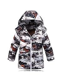 iikids Kids Boy Coat Long Puffer Snowsuit Hooded Winter Outwear