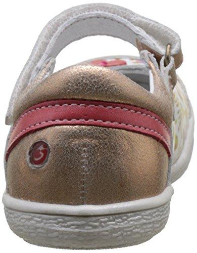 GBB Pratima, Bailarinas para Mujer Multicolore (Vte Blc Imp-Rose Poudre Dpf/2787)