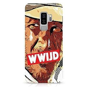 Loud Universe Classic WWIJD Samsung S9 Plus Case Retro Indiana Jones Samsung S9 Plus Cover with 3d Wrap around Edges