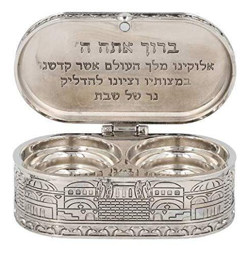 Candelabros de viaje de Shabat judío - Niquelado