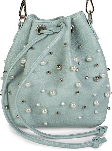 Claro para mujer Bolso styleBREAKER al única claro gris Azul talla 2012248 hombro Gris wpqgx7fR