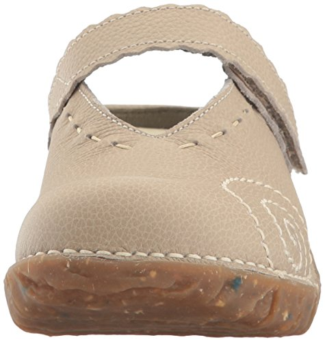 El Naturalista NG96 Yggdrasil- Damenschuhe Pantolette / Zehentrenner, Beige, leder (soft grain), absatzhöhe: 30 mm
