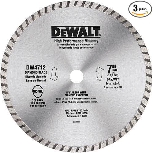 "Circular Saw Blades Set 4/"" 3 pcs Diamond Masonry for Tile Marble"