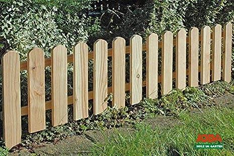 Staccionata di recinzione per giardino e aiuole in legno 120 x 30