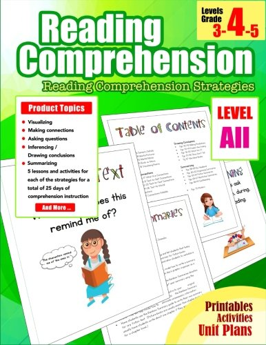 Reading Comprehension 4th Grade: Reading Comprehension Workbook Grade 4 Strategies for 3rd, 4th, 5th, Homeschool Grade (Reading Comprehension Passages and Questions) (Volume 13)