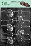 Cybrtrayd S079 Baseball Bat, Glove, Ball Pop Chocolate Candy Mold with Exclusive Cybrtrayd Copyrighted Chocolate Molding Instructions