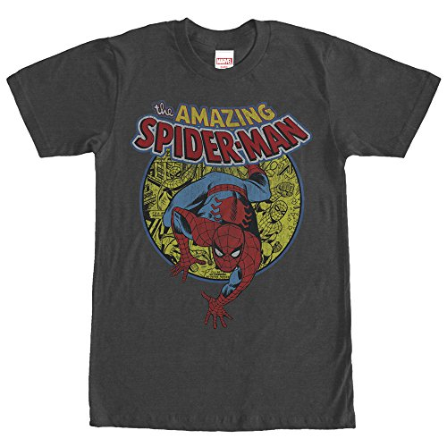 Marvel Men's Amazing Spider-Man Responsibility Charcoal Heather T-Shirt