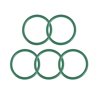 42mm OD 35mm ID 3.5mm Width FKM Seal Gasket for Machinery Plumbing Green Pack of 5 uxcell Fluorine Rubber O-Rings