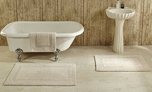 - Better Trends / Pan Overseas Lux 200 GSF 100-Percent Cotton Reversible Bath Rugs, 17 by 24-Inch, Sand, Pack of 2