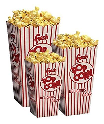 Retro Popcorn Scoop Box Small - 50ct (Cardboard Popcorn Boxes compare prices)