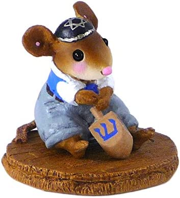 Wee Forest Folk Miniature Mouse Figurine – I Have a Little Dreidel