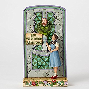 Jim Shore Wizard of Oz Please Knock Dorothy at Wizards Gate Figurine 4049679 New ()