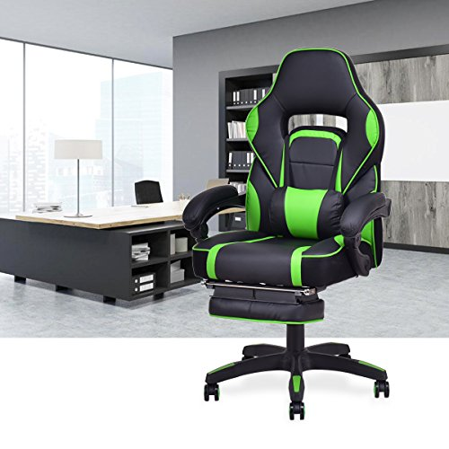 Miraculous Giantex Gaming Chair Racing Chair Ergonomic High Back With Footrest And Lumbar Support Adjusting Swivel Executive Office Desk Gaming Chair Green Ocoug Best Dining Table And Chair Ideas Images Ocougorg
