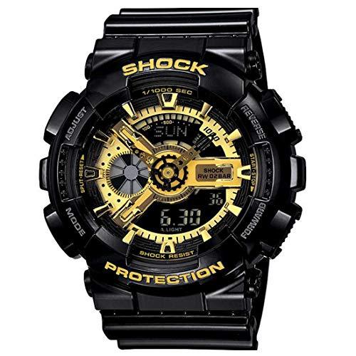 MASTRENA Analogue-Digital Men's Watch (Multicolour Dial Black Colored Strap)