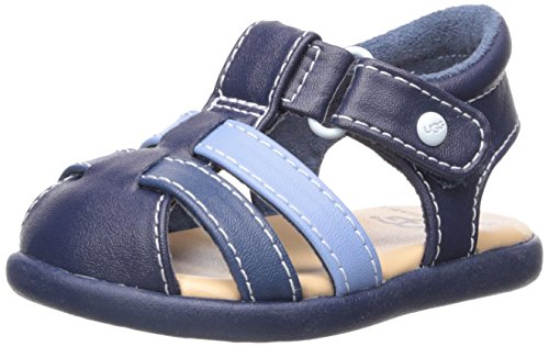 UGG Boys I Kolding Fisherman Sandal, Navy, 4-5 M US Infant