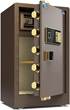 WiaLx Caja de Seguridad Digital de Seguridad electrónica, Acero Fuerte de Ministerio del Interior, el gabinete de Seguridad con Teclado Cajas Fuertes de Armas (Color : Coffee, Size : 48x42x80cm): Amazon.es: Hogar