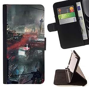 Momo Phone Case / Flip Funda de Cuero Case Cover - Futuro apocalíptica ciudad de París - Sony Xperia Z5 5.2 Inch (Not for Z5 Premium 5.5 Inch)