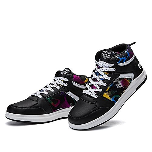Sneakers Moda e Scarpe Color Fantasia Scarpe Hop da Basket Black da Casual da Stile Alta con Hip Donna Uomo Cricket r5ZgxrRn