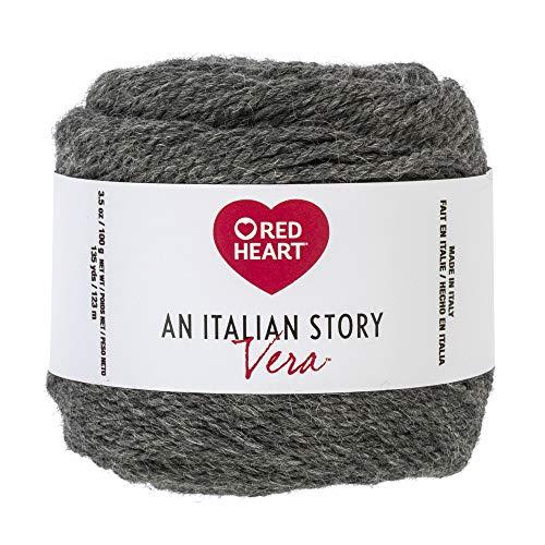 Red Heart R181.2342 Italian Story Vera Wool and Alpaca Blend Yarn, Pietra ()