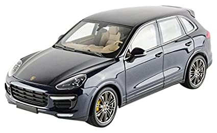 Porsche 2014 Cayenne Turbo S Blue Metallic Limited Edition to 504pcs 1/18 by Minichamps