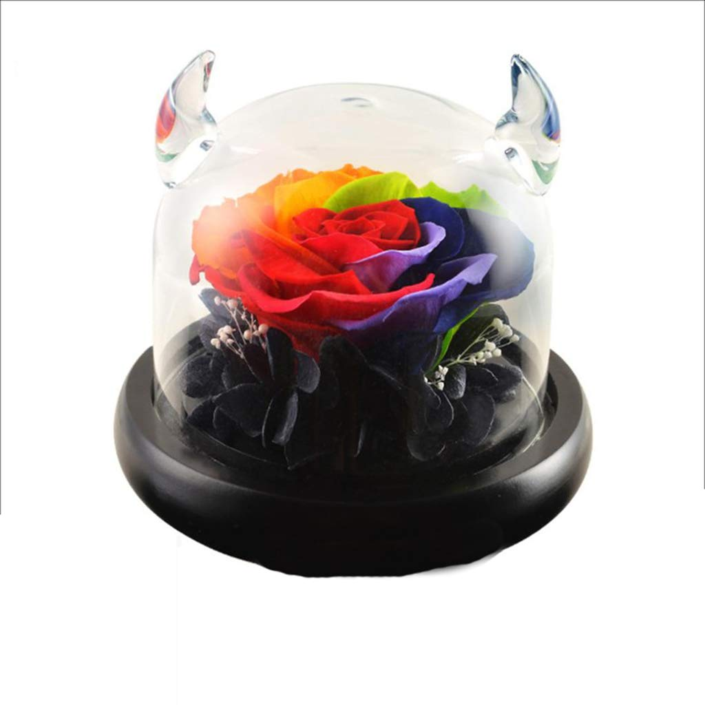 DerFel - 造花永遠の花 着色された小さな悪魔のローズ永遠の花の風景のボトル永遠の花 - 8525 B07THK1NMV