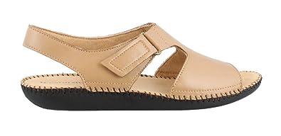 Women's Scout Leather Low Heel Sandals Navy 6.5 N