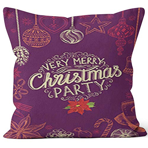 Nine City Christmas Party Invitation Restaurant Food menu Home Decorative Throw Pillow Cover,HD Printing Square Pillow case,40
