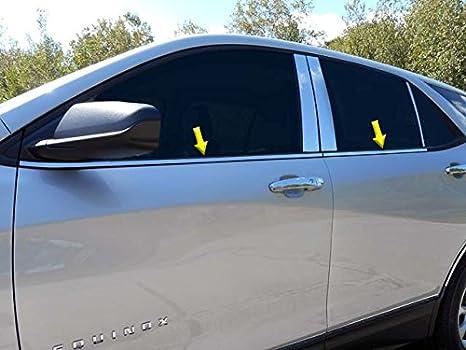 Black Wood Grain Door Window Switch Panel Trim For Chevrolet Equinox 2018-2020