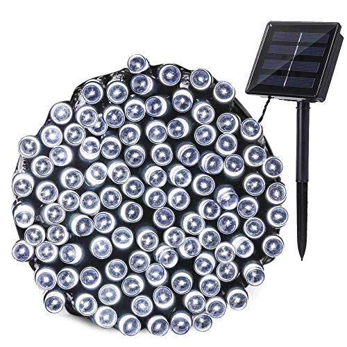 Qedertek Zonne-Kerstverlichting Buiten 22 Meter 200 LED 8 Modi Waterdichte Zonne-Verlichting Voor Tuin, Tuin, Bruiloft…