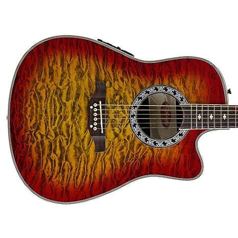 Stagg Elektroakustische Shallow Bowl Gitarre mit Cutaway