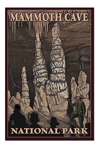 Mammoth Cave National Park, Kentucky - Onyx Pillars (20x30 Premium 1000 Piece Jigsaw Puzzle, Made in USA!) ()