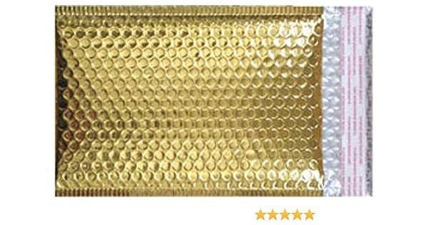 Amazon.com : #0 Metallic Gold Bubble Mailer, 6.5
