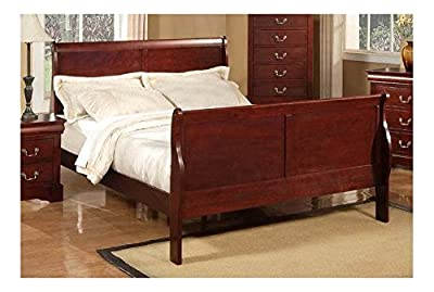Louis Philippe II Sleigh Bed (Full)