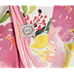 Premium-Cotton-Large-Baby-Swaddle-Receiving-Blanket-Stretchy-White-Pinks-Floral