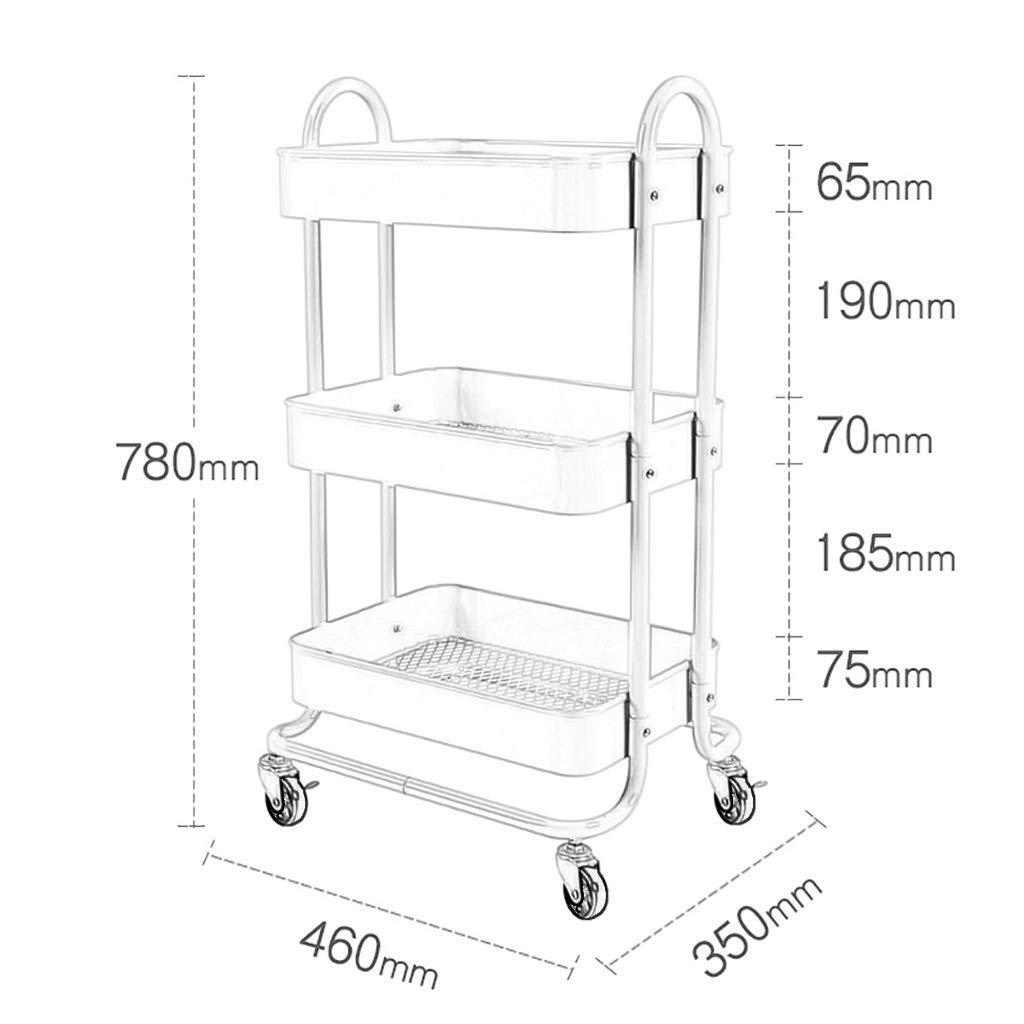Amazon.com: Carro de almacenamiento de metal para baño y ...
