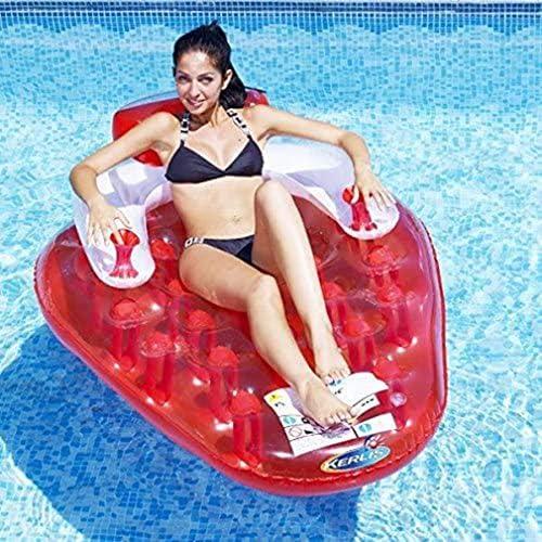 スイミングリング膨脹可能な水泳プール、ストロベリーラウンジャープールインフレータブルキッズプール