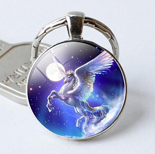 Unicorn Keychain Unicorn jewelry Unicorn Key Ring Fantasy style Magical Key Ring Fantasy jewellery Fairytale Magical creature Unicorn gift