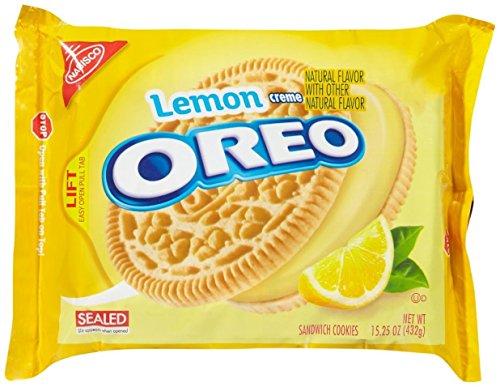 - Oreo Sandwich Cookies - Lemon Creme - 15.25 Ounces